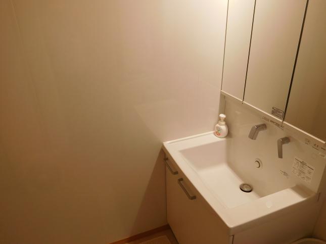 キッチンパネルで洗面所もトイレも水はねOK!