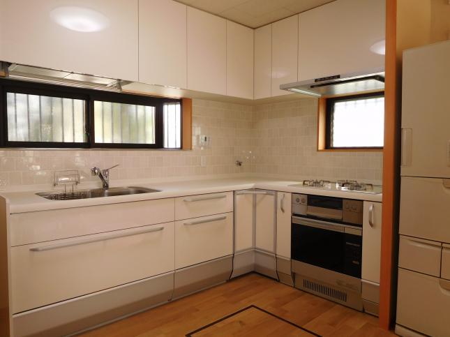 L型キッチンもラクに使えて気に入ってます!