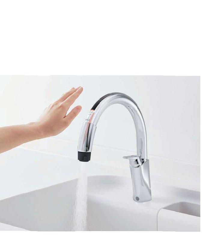 キッチン用タッチレス水栓「ナビッシュ」